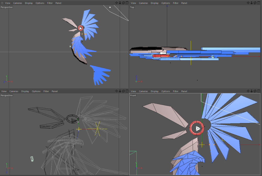 C4D modeling and animating